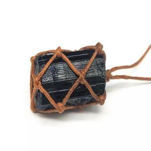 Jewelry - Black tourmaline necklace protection stone